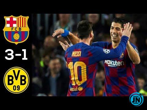 Barcelona vs Borussia Dortmund 3-1 – All Highlights & Goals